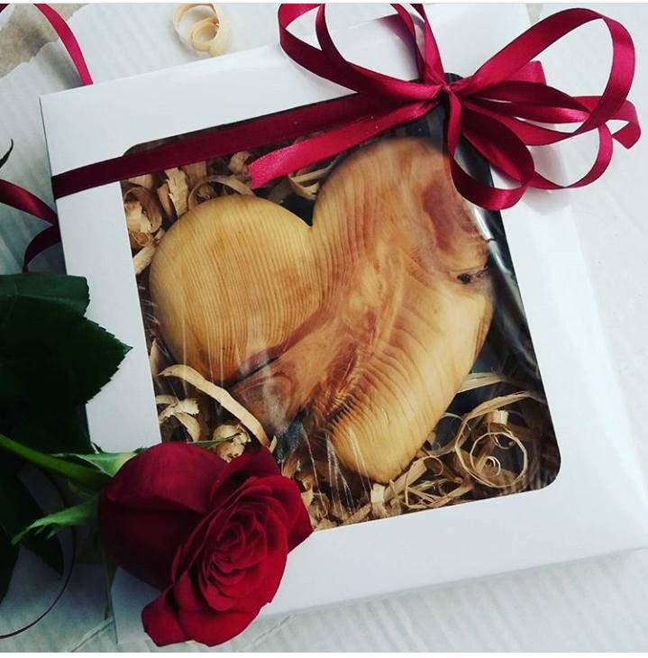 Srdce z dreva ako darček