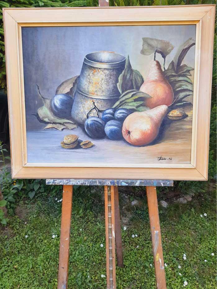 Starožitný obraz v originál ráme a rozmere s rámom 80 x 67 cm. Bez rámu 66 x x53 cmAutor: Štubňa