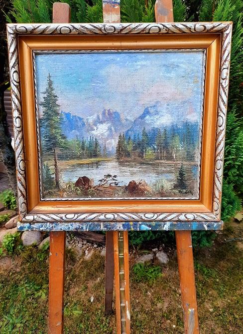 Krásny starožitný obraz Tatry. Autor Bartek. Rozmer obrazu v originálnom ráme je 48 x 43 cm. Bez rámu 40 x 35 cm. Pre viac info ma kontaktujte: 00421918251733